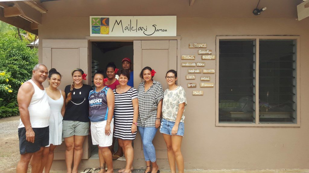 The Mailelani Samoa family and team at their factory in Samoa.